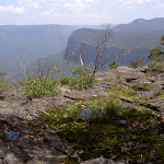 View from mossy rock landing on Mt Hay