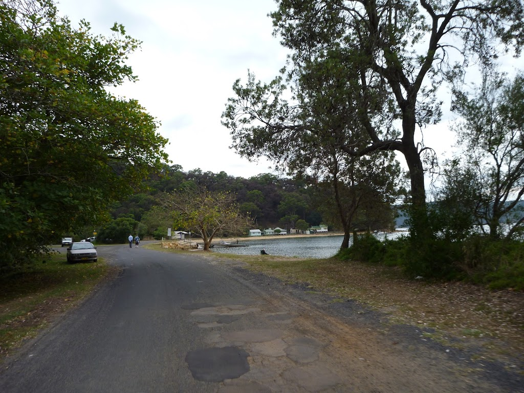 Walking along road to boat ramp (409040)