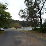 Walking along road to boat ramp