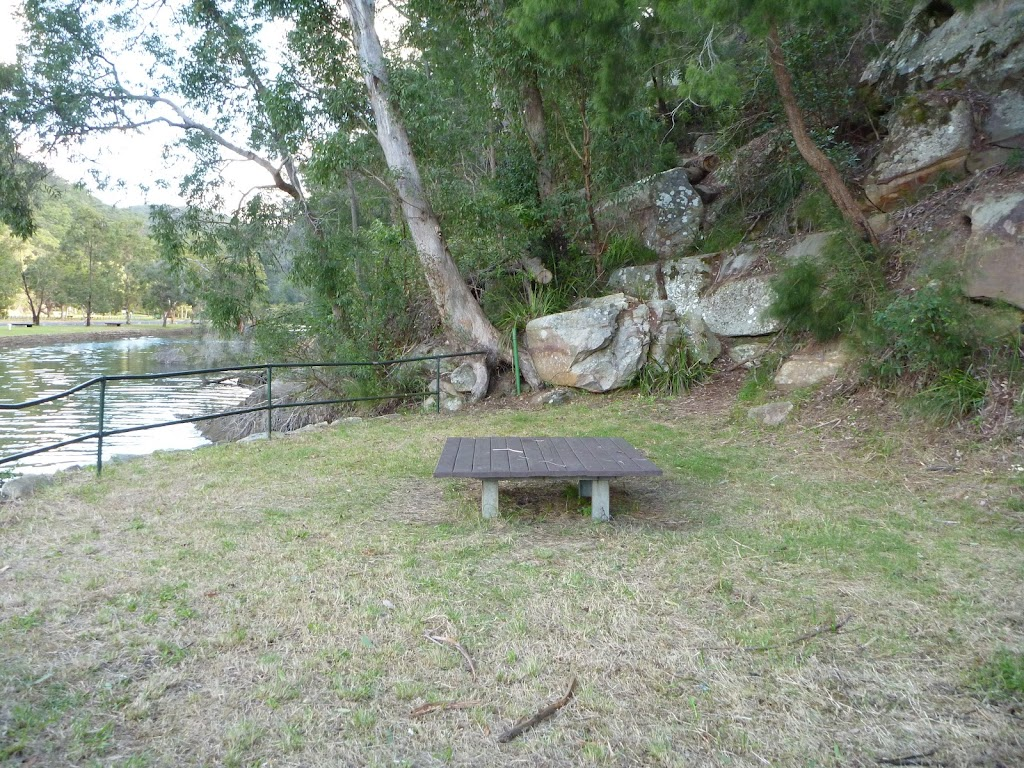 Picnic area on the north side of Apple Tree Bay