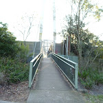 Eastern end of Mt Kuring-gai rail and freeway footbridge (422593)