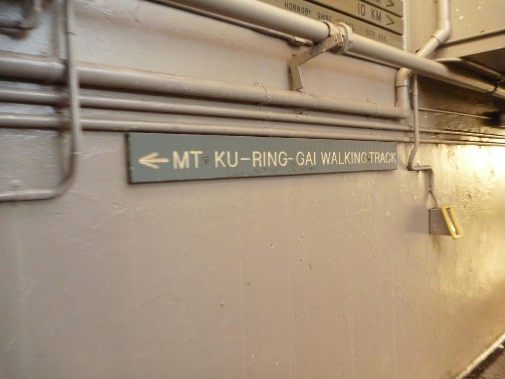 Mt Ku-ring-gai Walking Tack sign at station