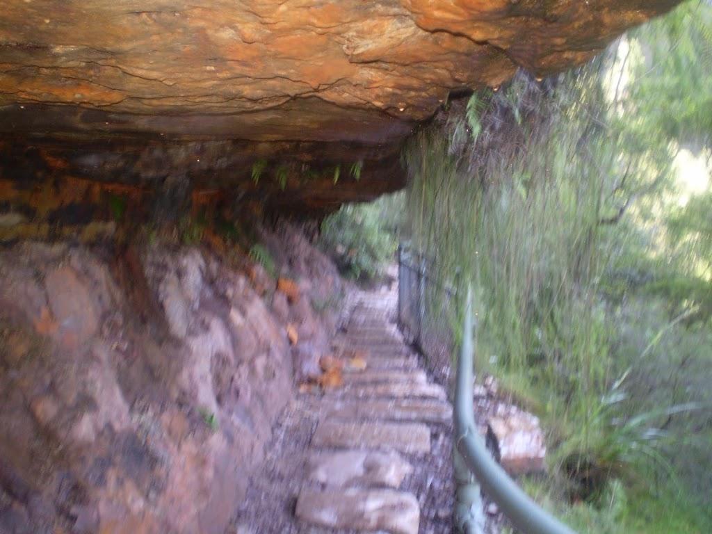 National Pass, under cliff