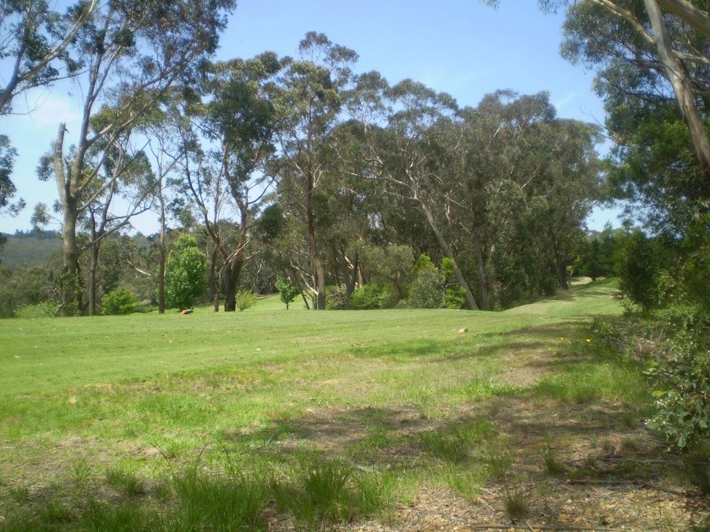 Track beside Leura Golf Course