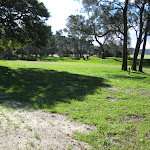 Camping area near entrance