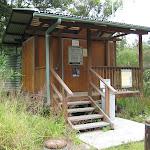 Toilet in smaller campsite area