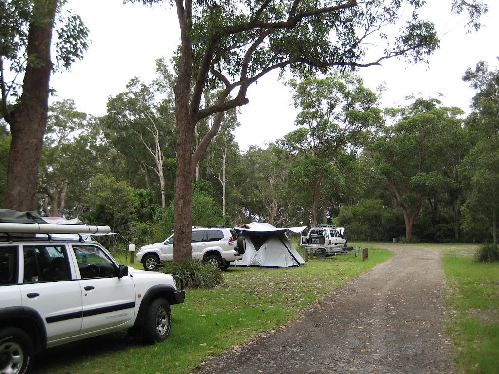 One of the camping areas