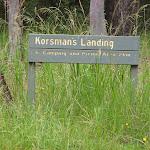 Sign to Korsmans Landing from Lake Road