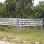 Sign to campgrounds