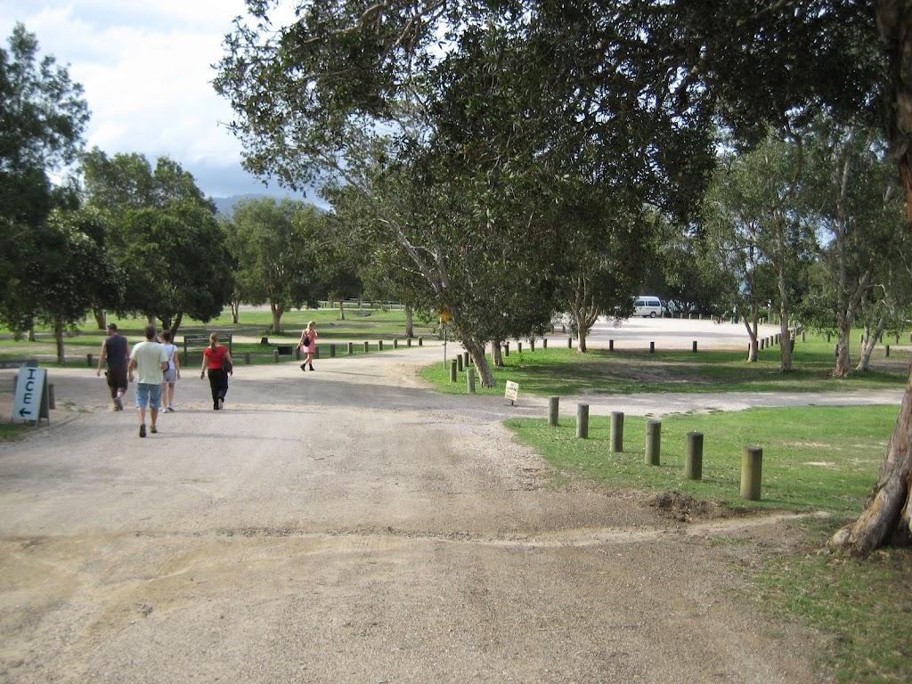 Entering Diamond Head camping ground