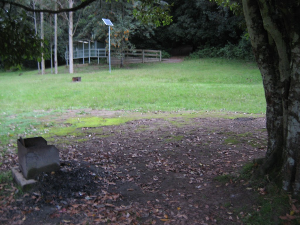 Fire pit and toilet block
