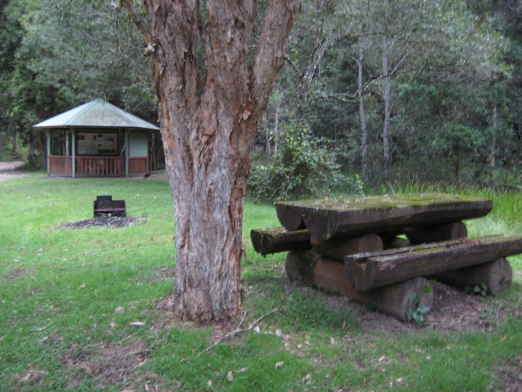Old Picnic table and information area
