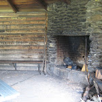 Fireplace in Shelter