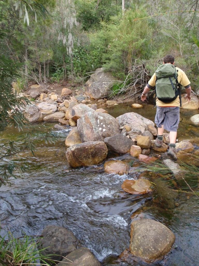 Creek crossing near Burra Korain Flat Camping Area