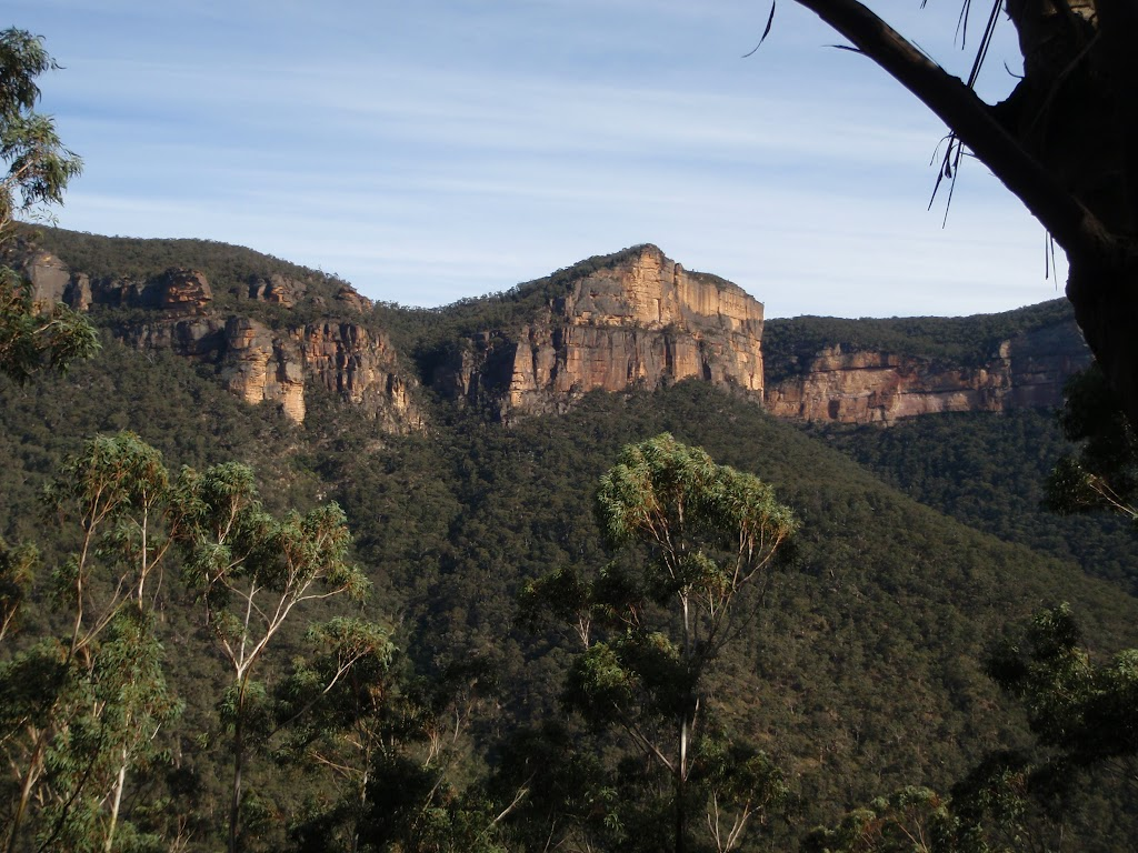 View of cliffs across the Grose Valley