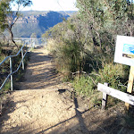 Railed track down to Dockers Lookout