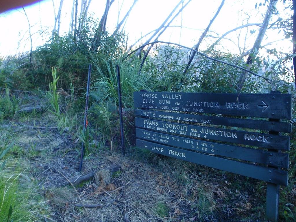Burnt signpost