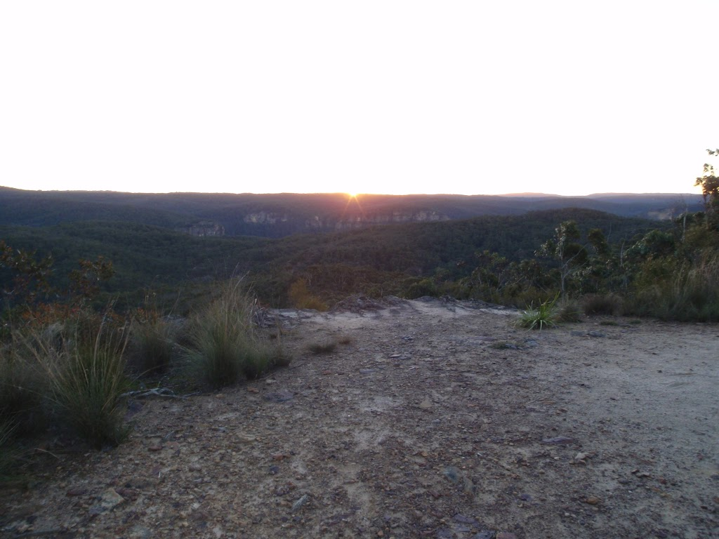 Sunset from Baltzer Lookout service trail