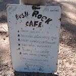 Bush Rock Cafe sign at Neates Glen car park (51731)