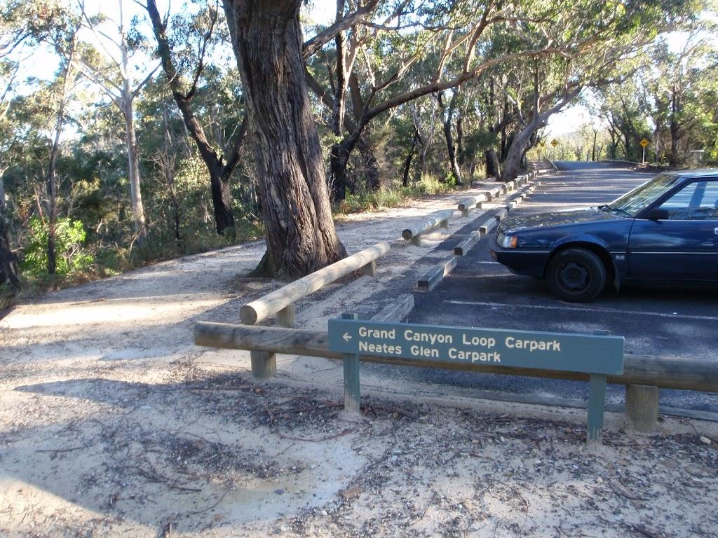 Track round Evans Lookout car park