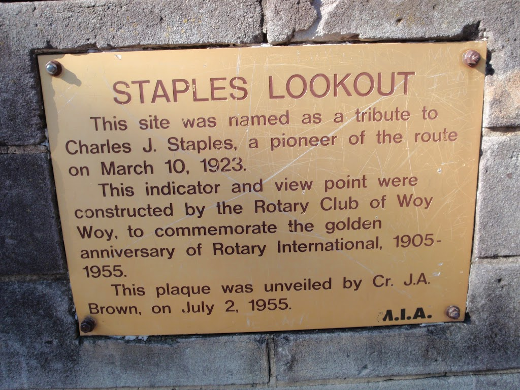Staples Lookout Plaque (53348)
