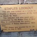 Staples Lookout Plaque (53348)
