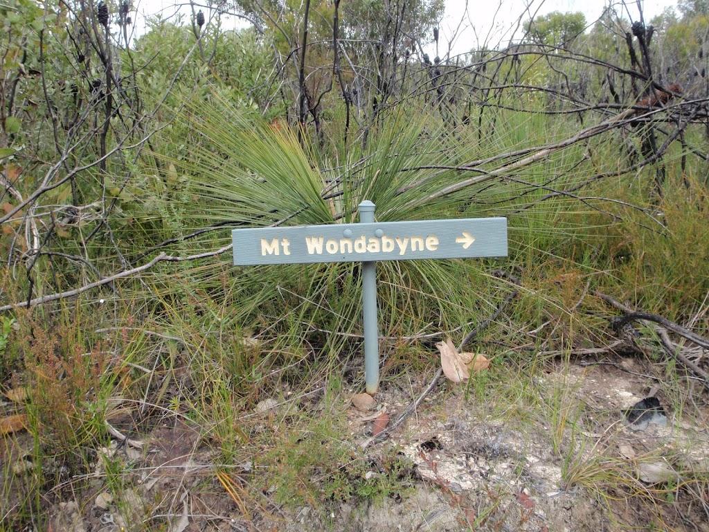Sign to Mt Wondabyne