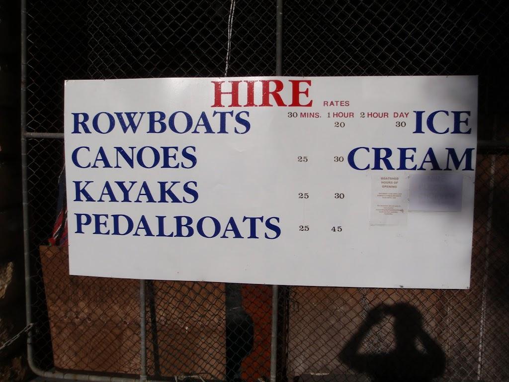 Sign at boat shed
