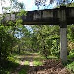 Track under sewer bridge at Fullers Park