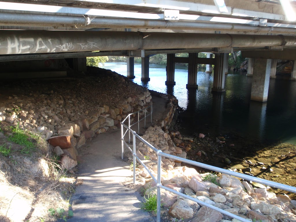 Footpath under Epping road Bridge and Lane Cove river