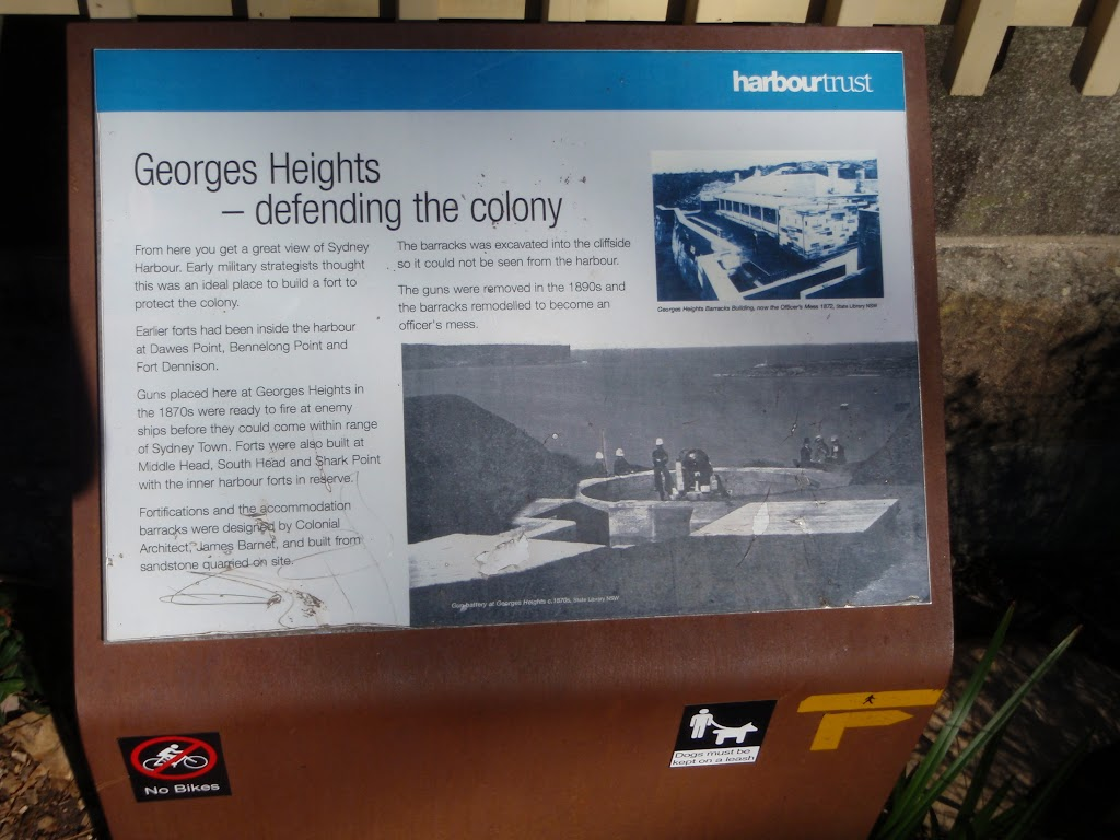 Sign nex to road at Georges Heights (57227)