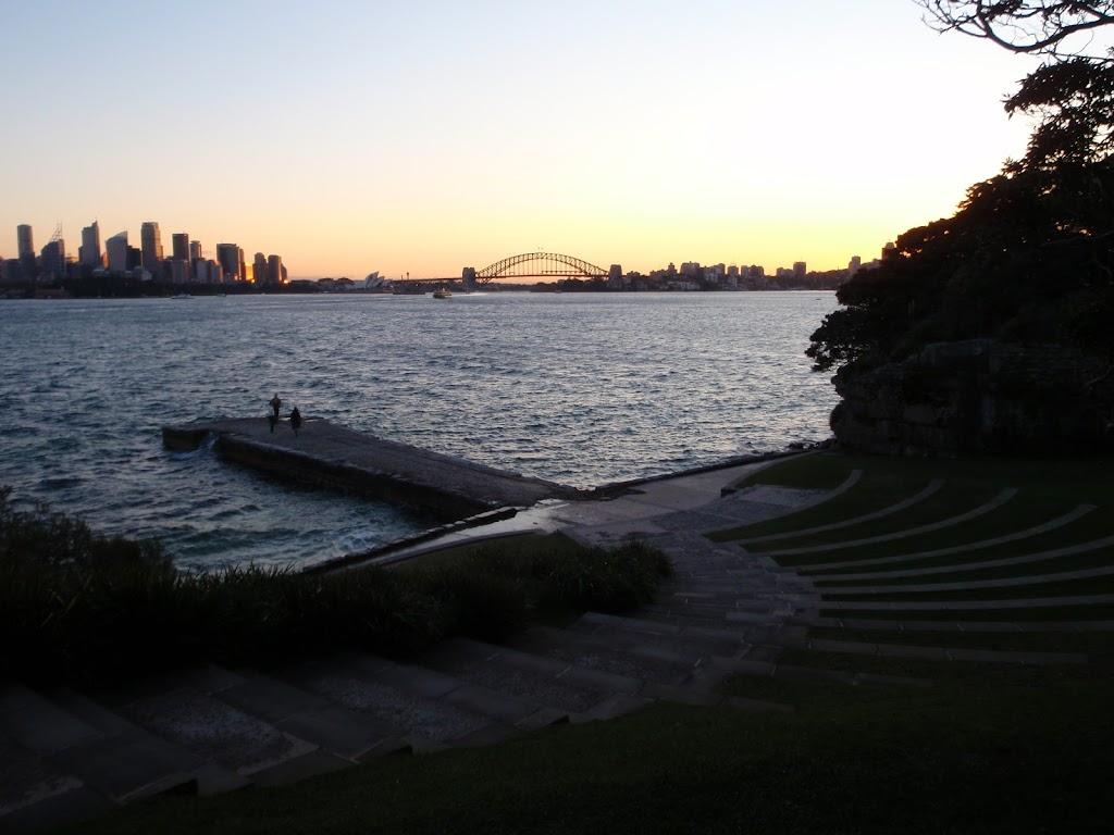 Nice city sunset