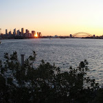 pano of Sydney harbour