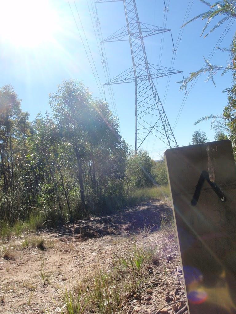 Winding under powerlines