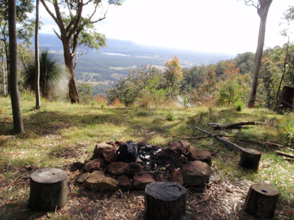 campsite at edge of ridge