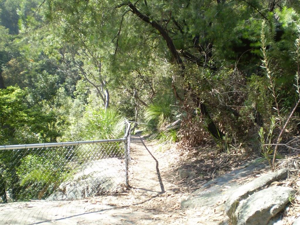 fenced off rock shelf