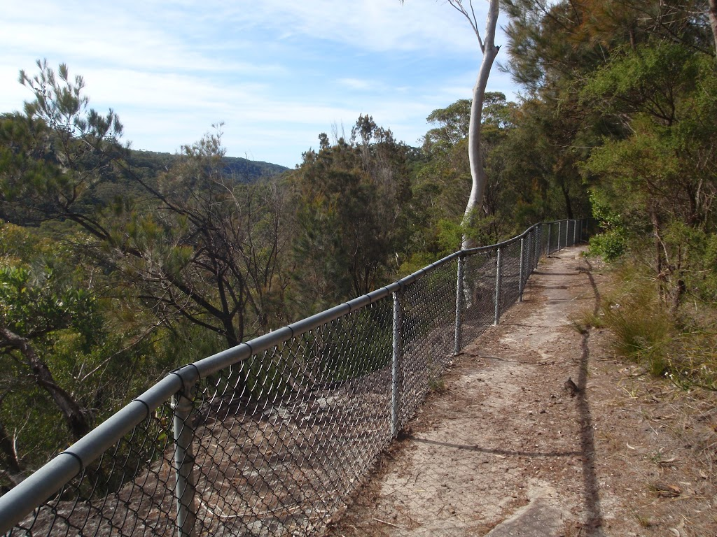 fenced off cliffs