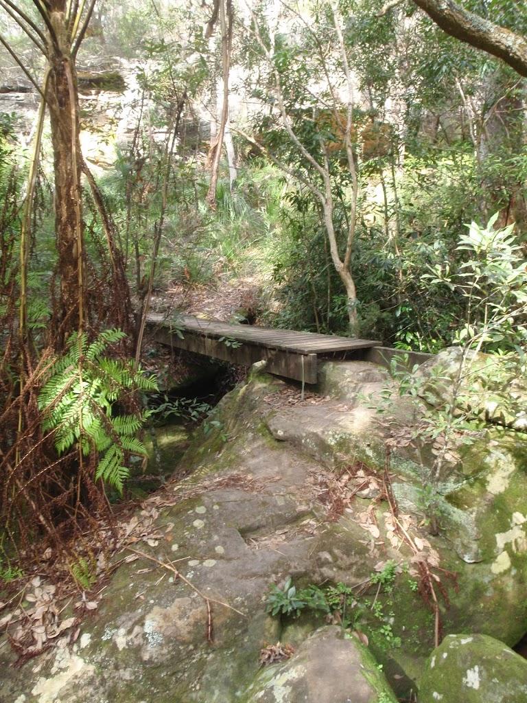 crossing a bridged creek