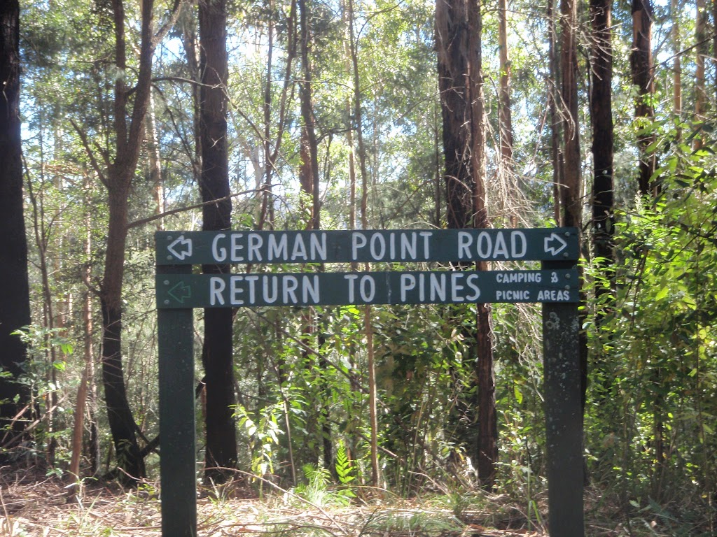 Intersection with German Point Rd in the Watagans