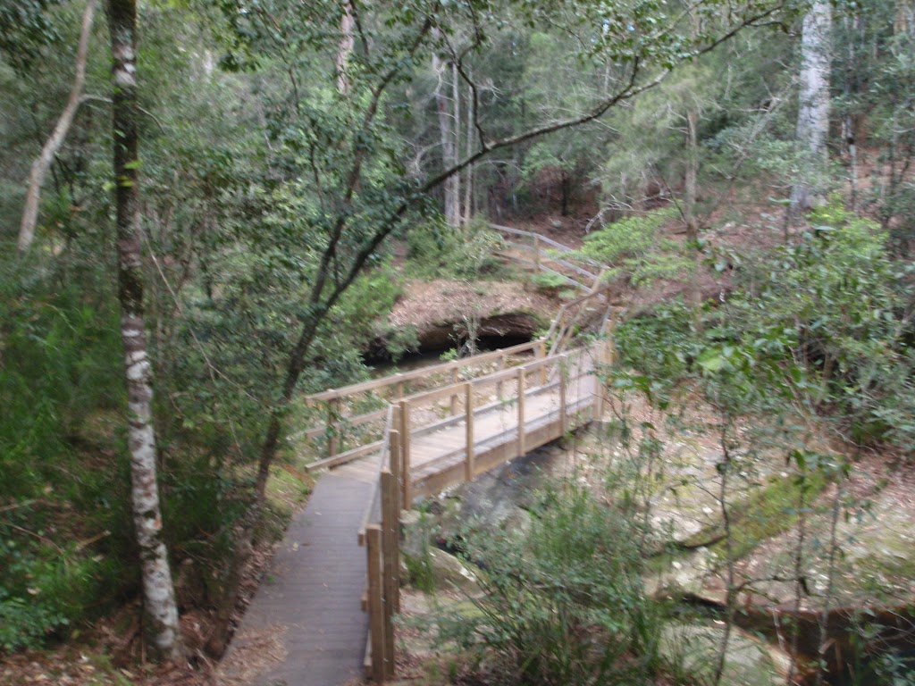 Timber bridge near Boarding House Dam in the Watagans (65952)