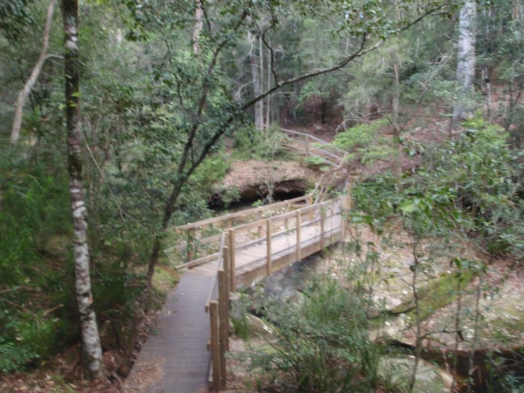 Timber bridge near Boarding House Dam in the Watagans