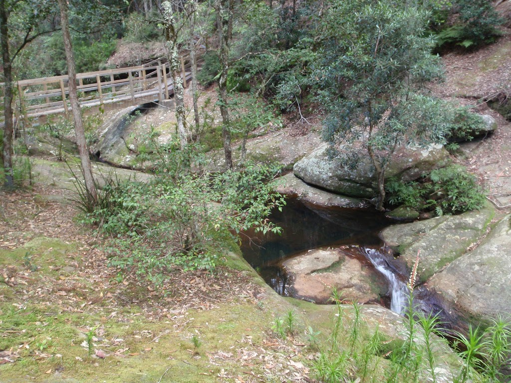 Rock formations and creek near Boarding House Dam in the Watagans