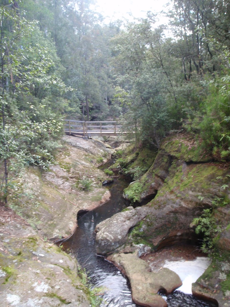 Boarding House dam creek and timber bridge in the Watagans