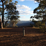 Afternoon view from Monkey Face viewpoint in the Watagans (66063)