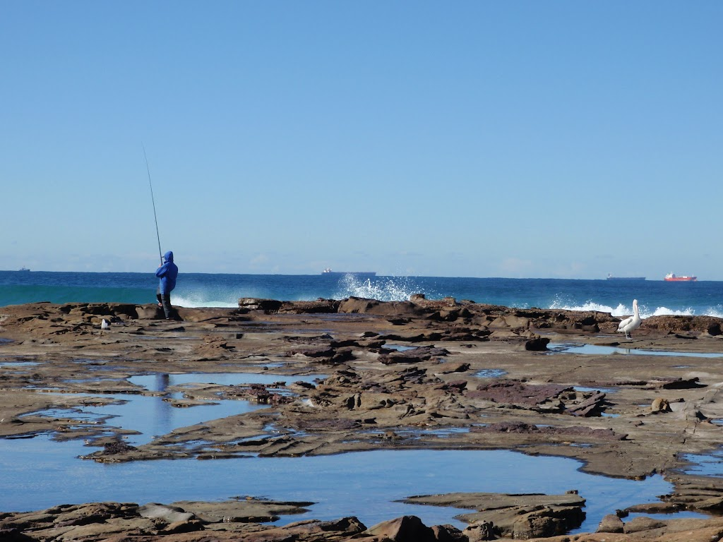 Rock fishing at Merewether