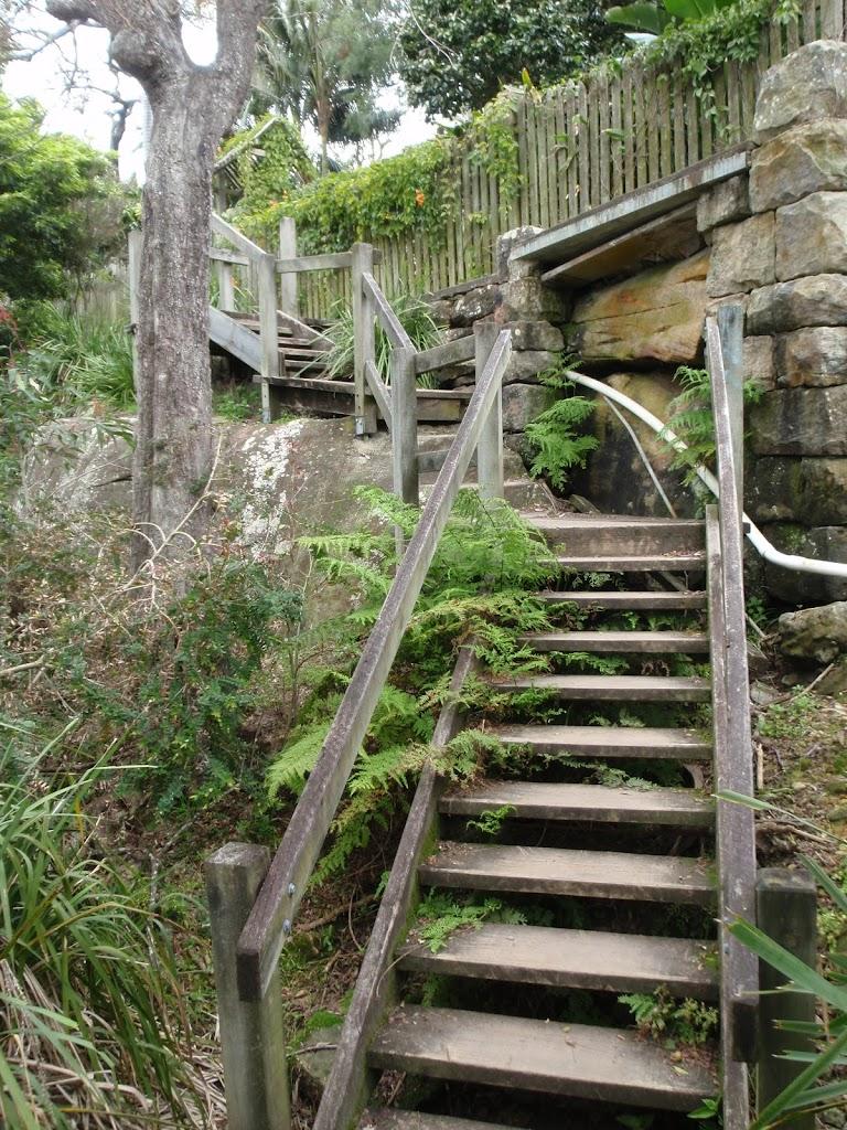 Stairs behind houses near Sirius Cove