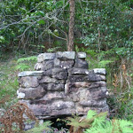 Old fire place at Towlers bay