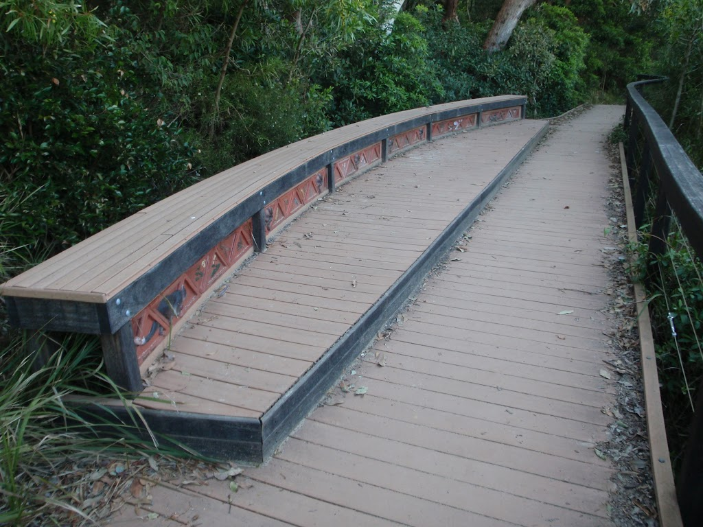Board walk behind Reef Beach