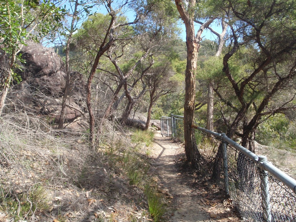 track winding down to Galston gorge