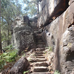 Climbing down into Galston Gorge